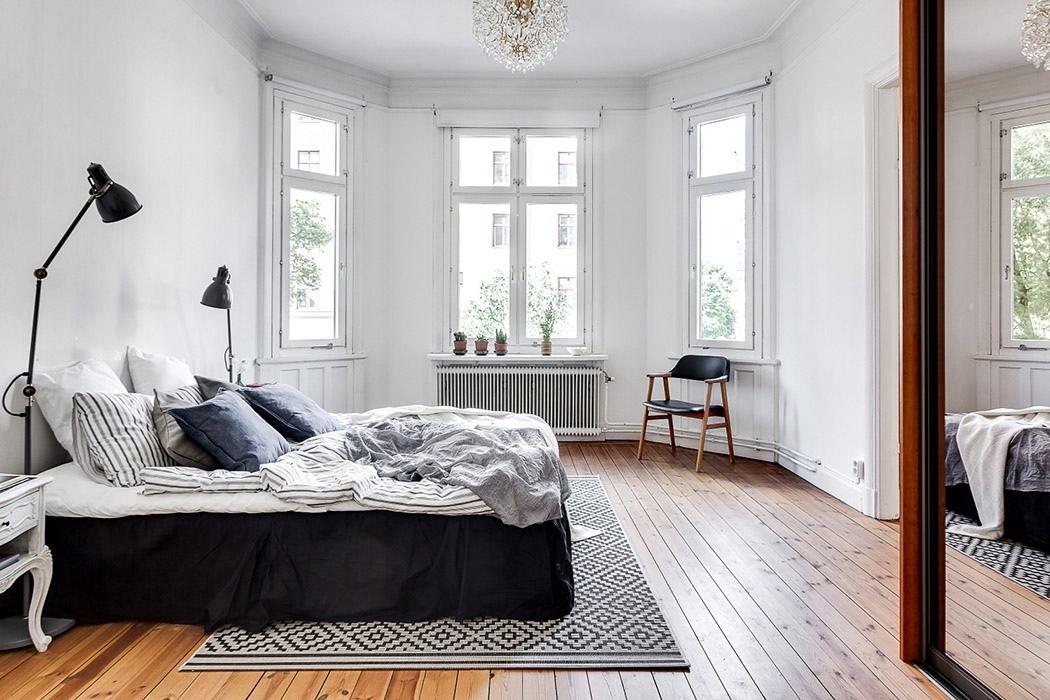北欧风格卧室窗户装饰图