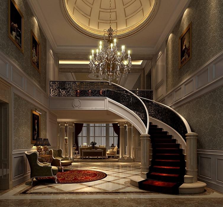 欧式风格客厅楼梯设计