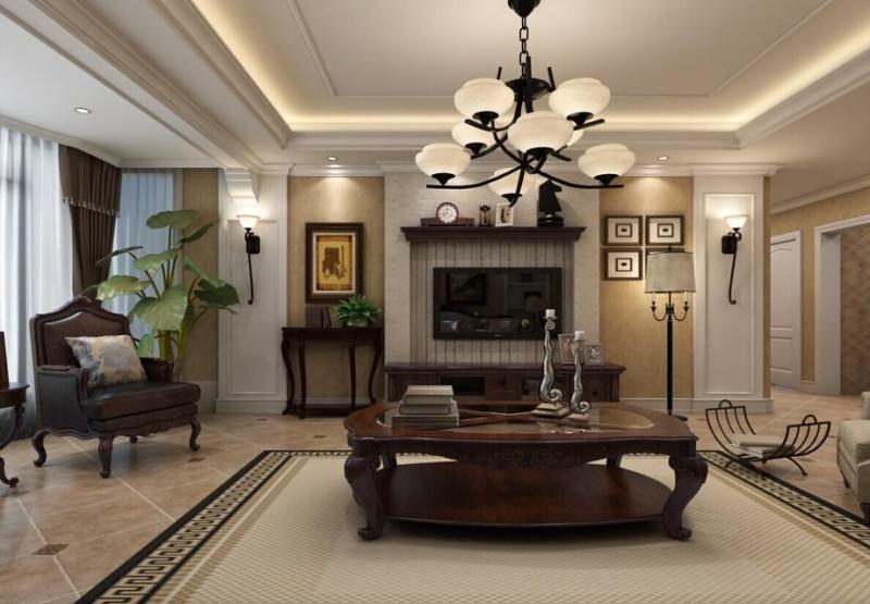120平米客厅灯饰/照明装修效果图