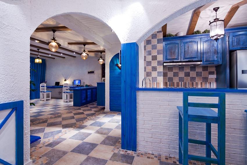 地中海风格过道/门厅装修实例图