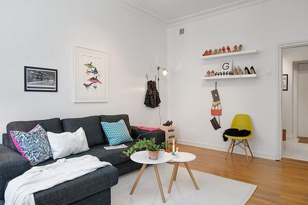 103平米客厅沙发背景墙室内效果图