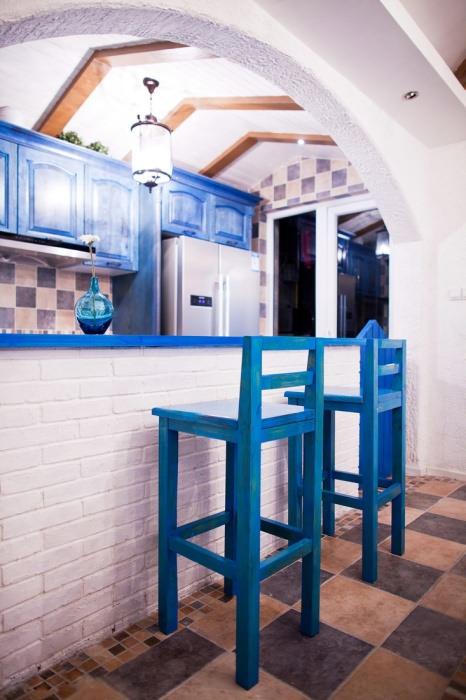 复式/跃层厨房吧台装修效果图