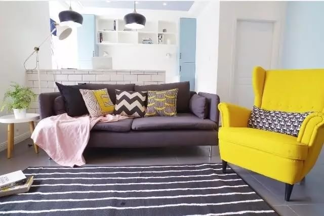 北欧风格客厅沙发背景墙设计图