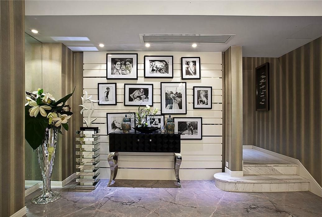 欧式风格过道/门厅照片墙装修效果图