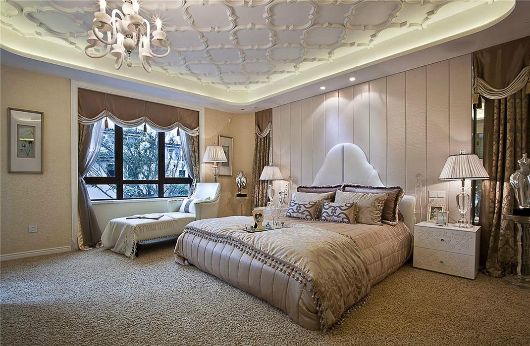 复式/跃层卧室背景墙设计图