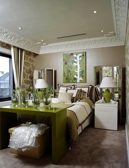 350平米卧室背景墙装修效果图