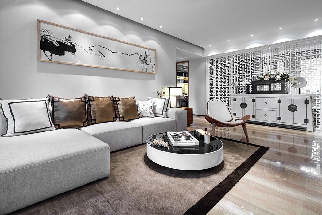 234平米客厅背景墙室内设计图