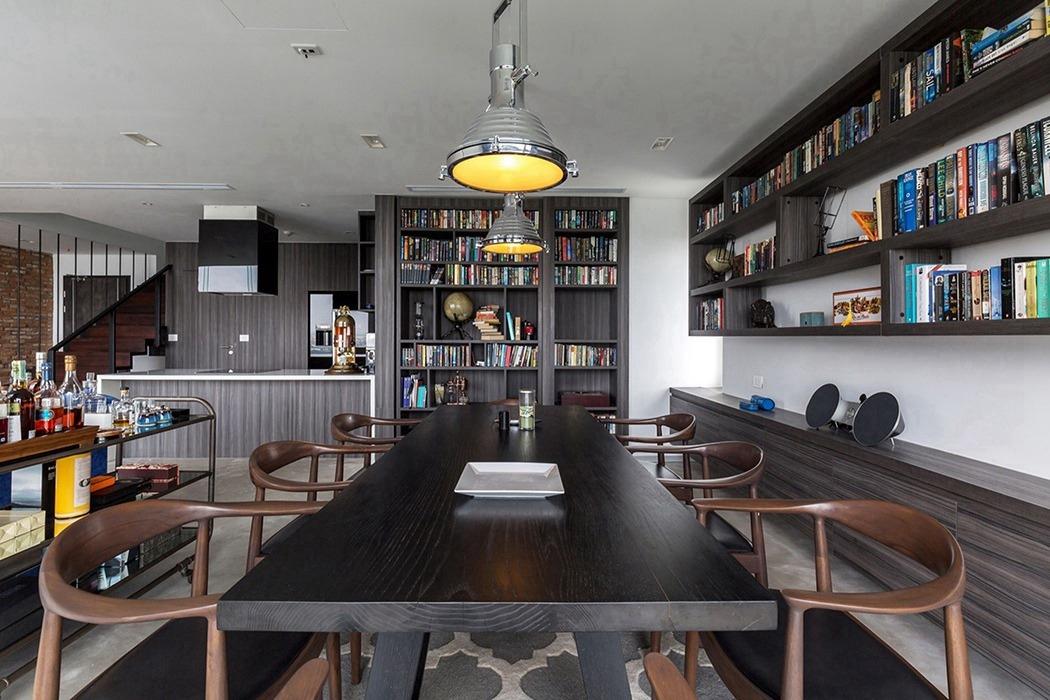 现代简约风格餐厅书柜/架装修案例图