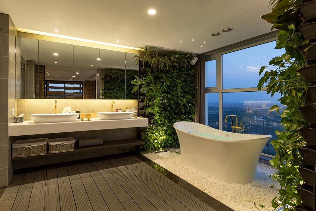 别墅卫生间窗户装潢样板间