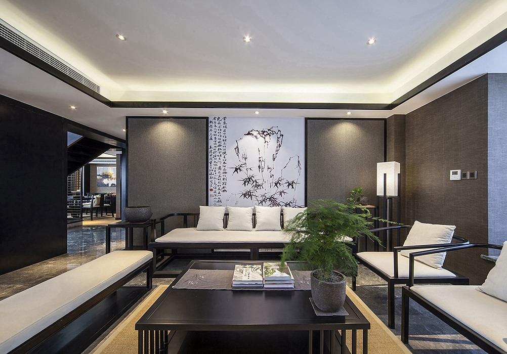复式/跃层客厅背景墙家装效果图