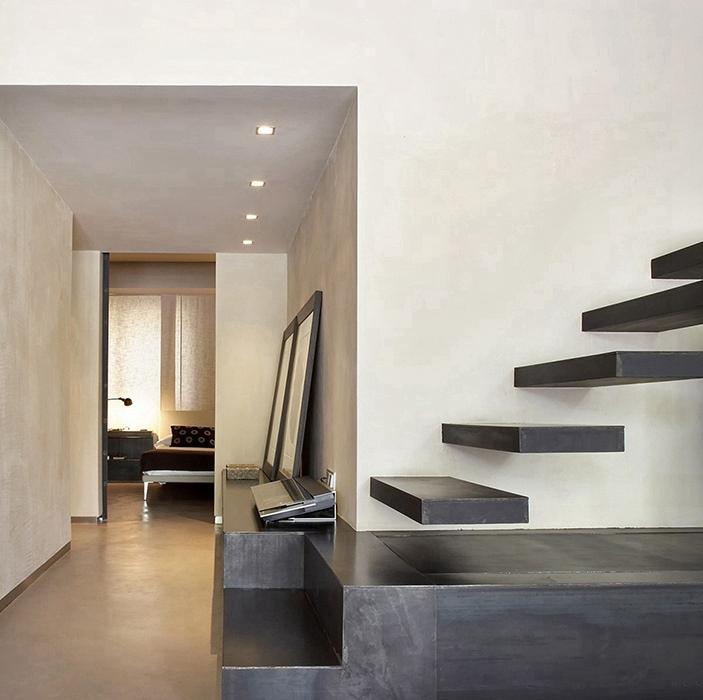 现代简约风格客厅楼梯装修设计