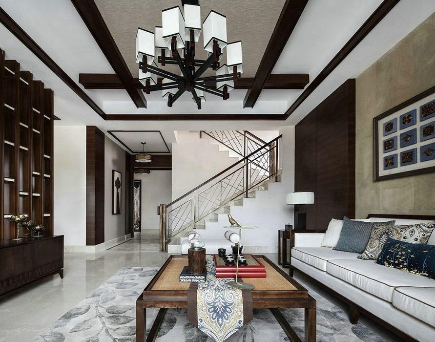 280平米客厅楼梯家装设计图
