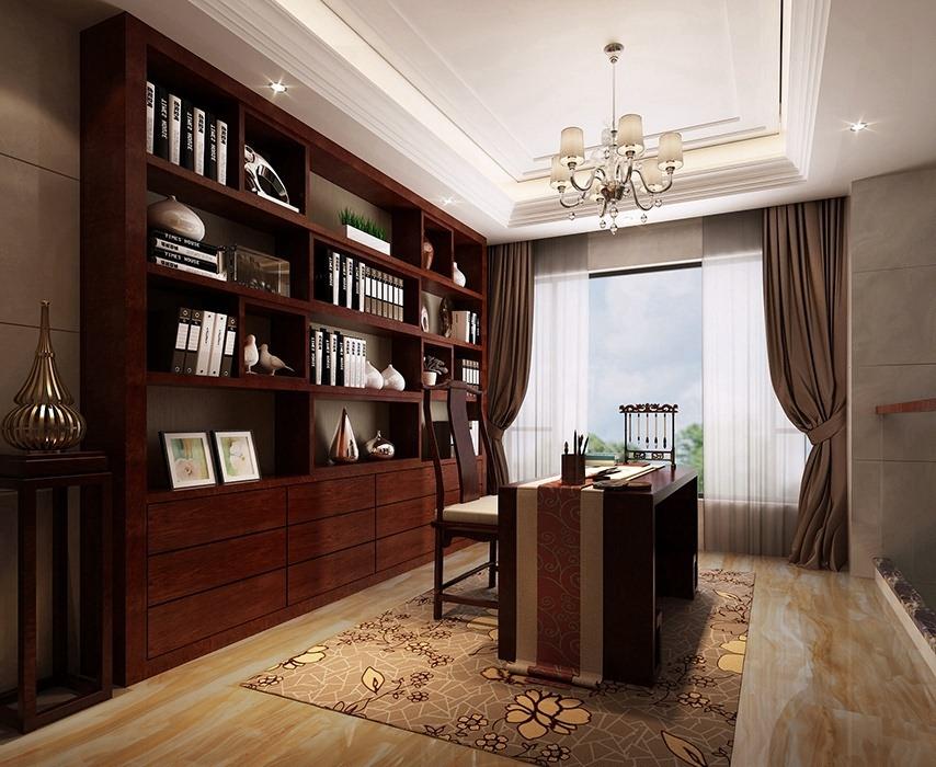 别墅书房书柜/架效果图