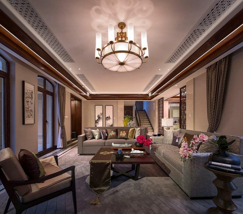新中式风格客厅家装样板间