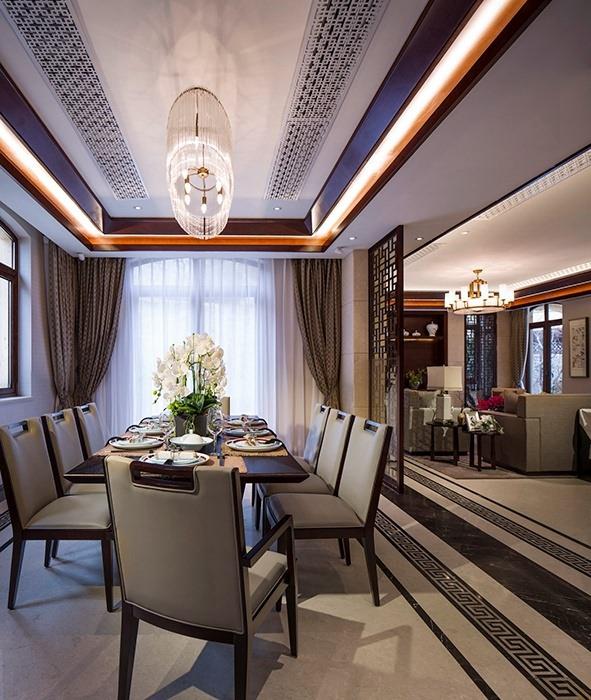 新中式风格餐厅灯饰/照明室内设计