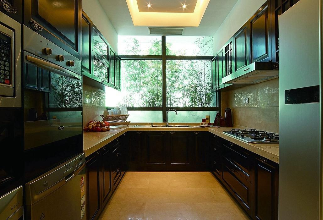 新中式风格厨房装修图片