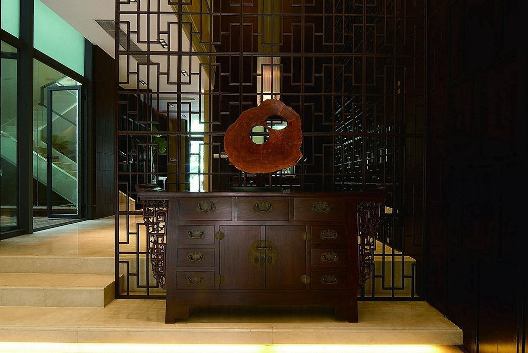 新中式风格过道/门厅装潢样板间