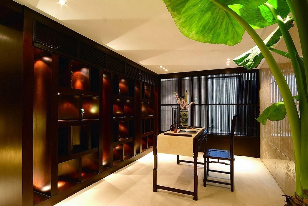 新中式风格书房书柜/架案例图