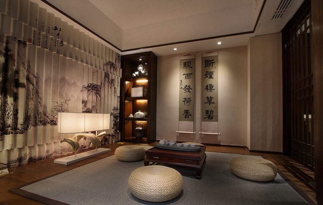 320平米休闲区背景墙家装设计图
