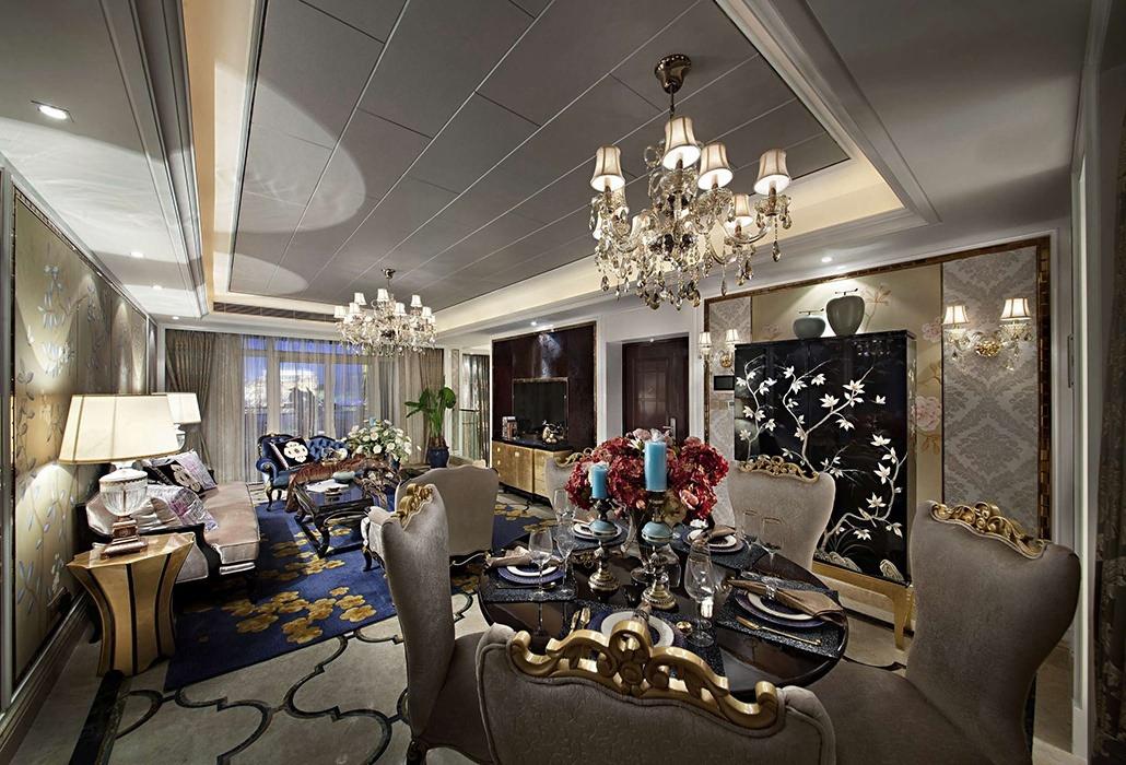 欧式风格餐厅灯饰/照明装潢实例图