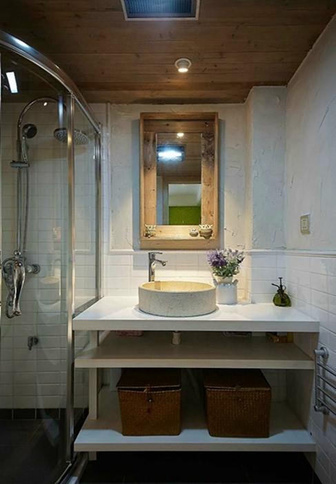 三居室卫生间创意收纳装修图片