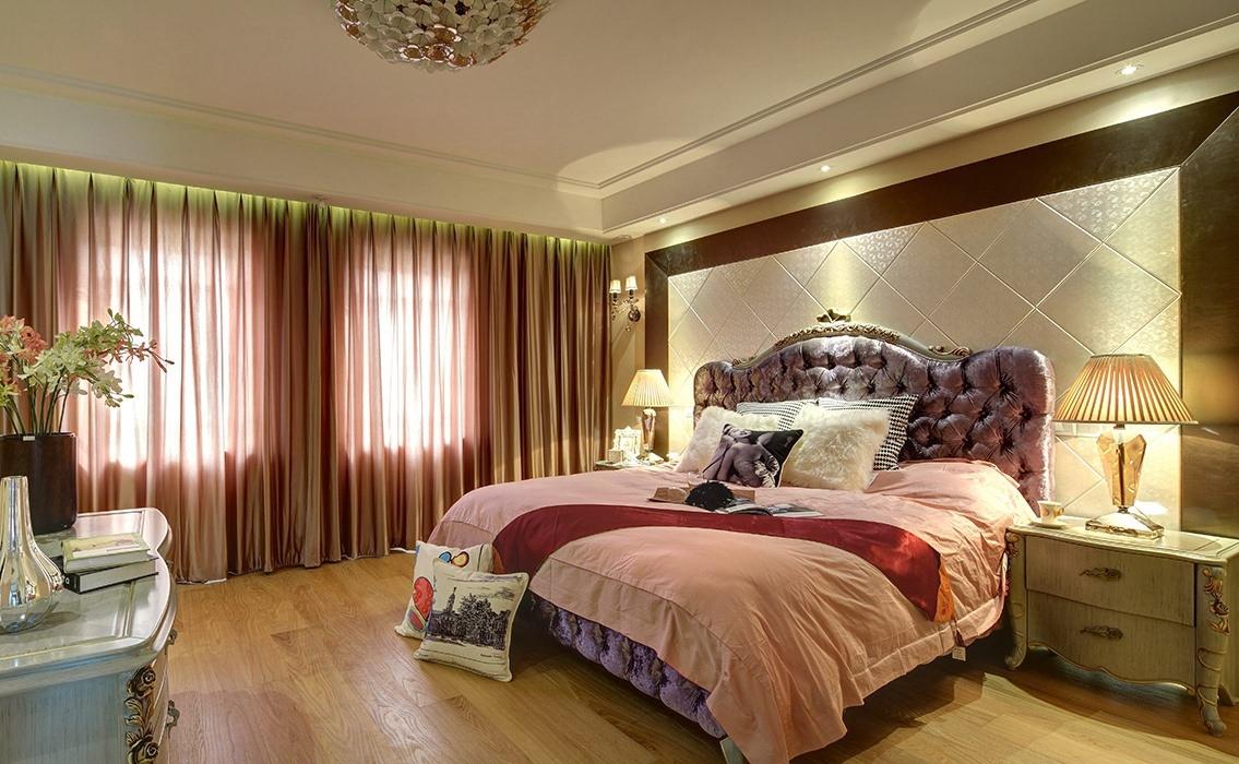 130平米卧室背景墙效果图