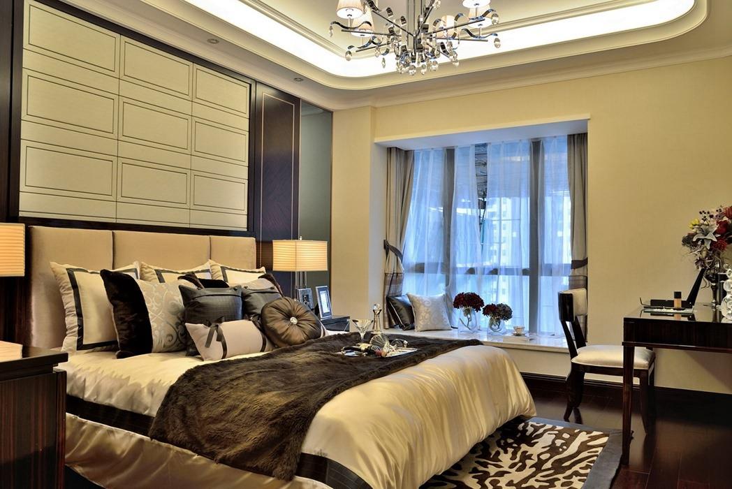 欧式风格卧室飘窗装潢图片