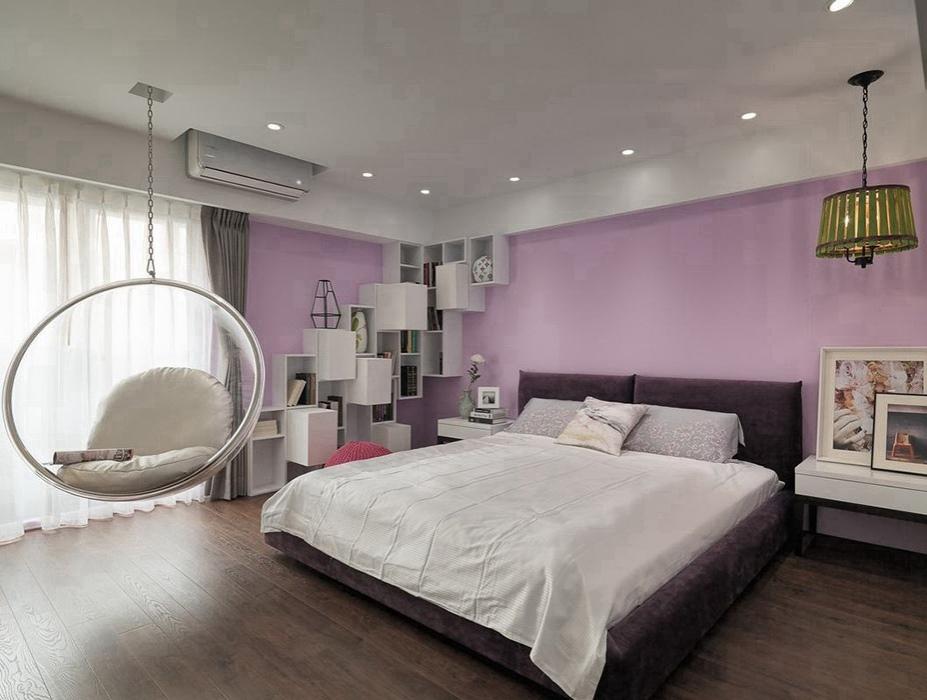 96平米卧室背景墙装修效果图
