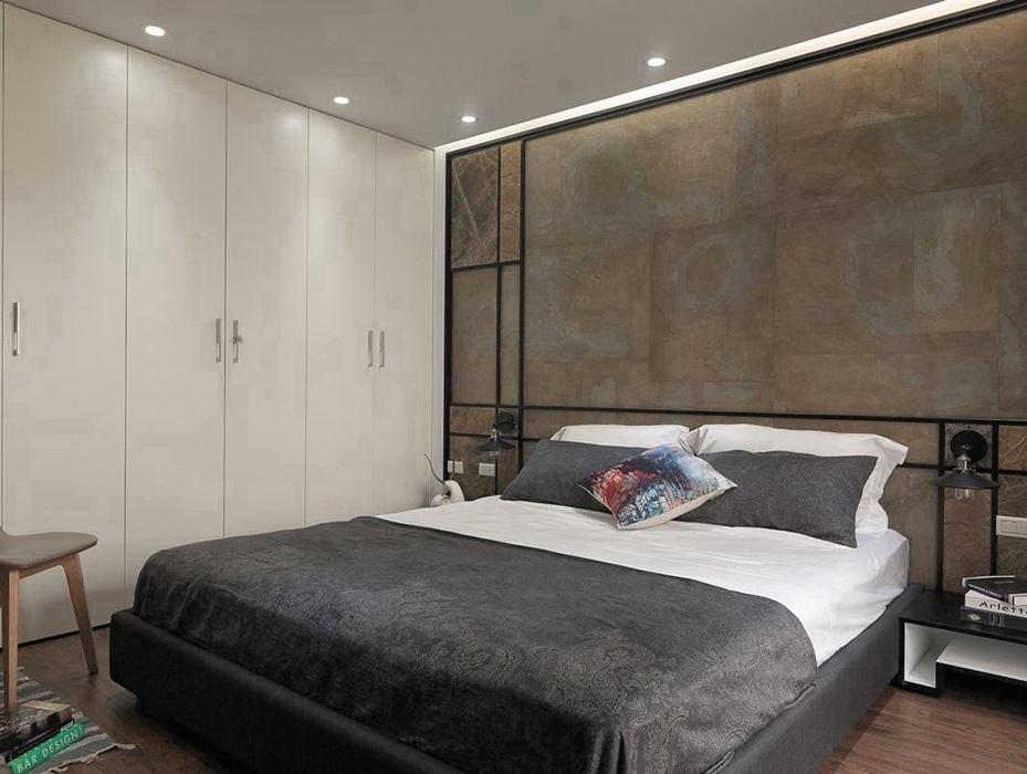 港台风格卧室背景墙装修设计图