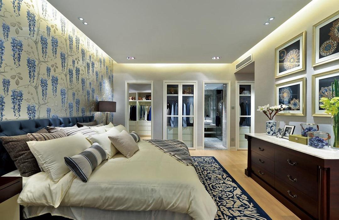 欧式风格卧室背景墙装饰设计