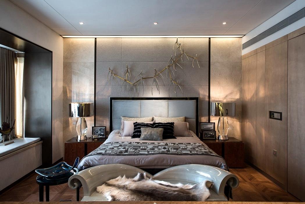 港台风格卧室背景墙设计图