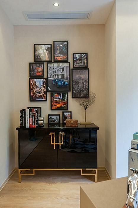 三居室过道/门厅背景墙室内设计
