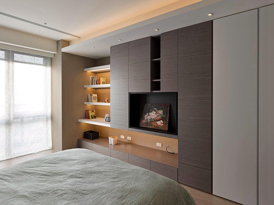 三居室卧室创意收纳家装效果图