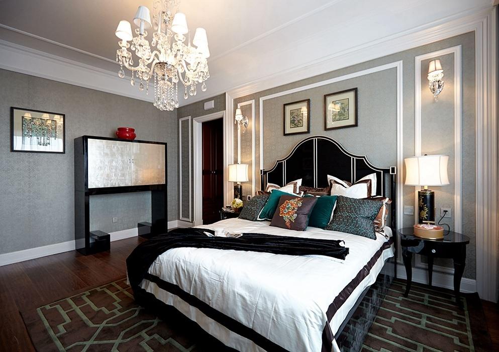 144平米卧室背景墙室内案例