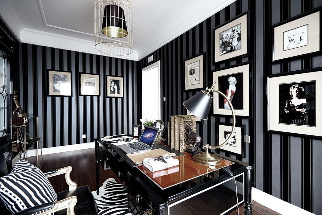 144平米书房照片墙家装图片