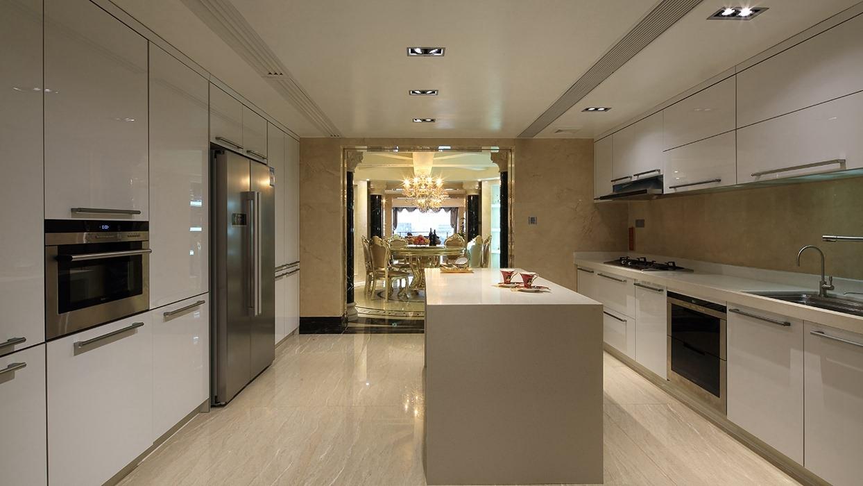 四居室厨房吧台家装设计