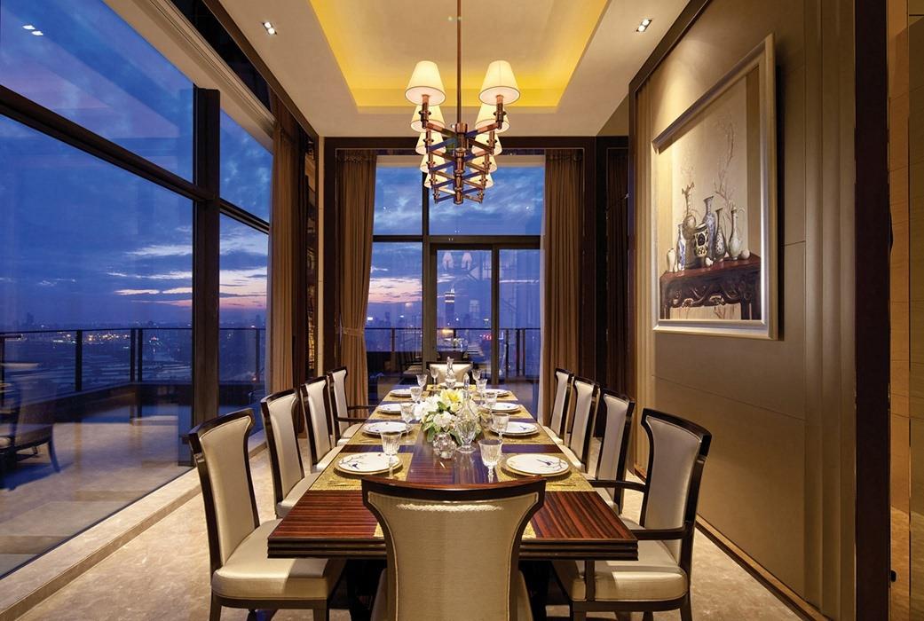 262平米餐厅背景墙实例