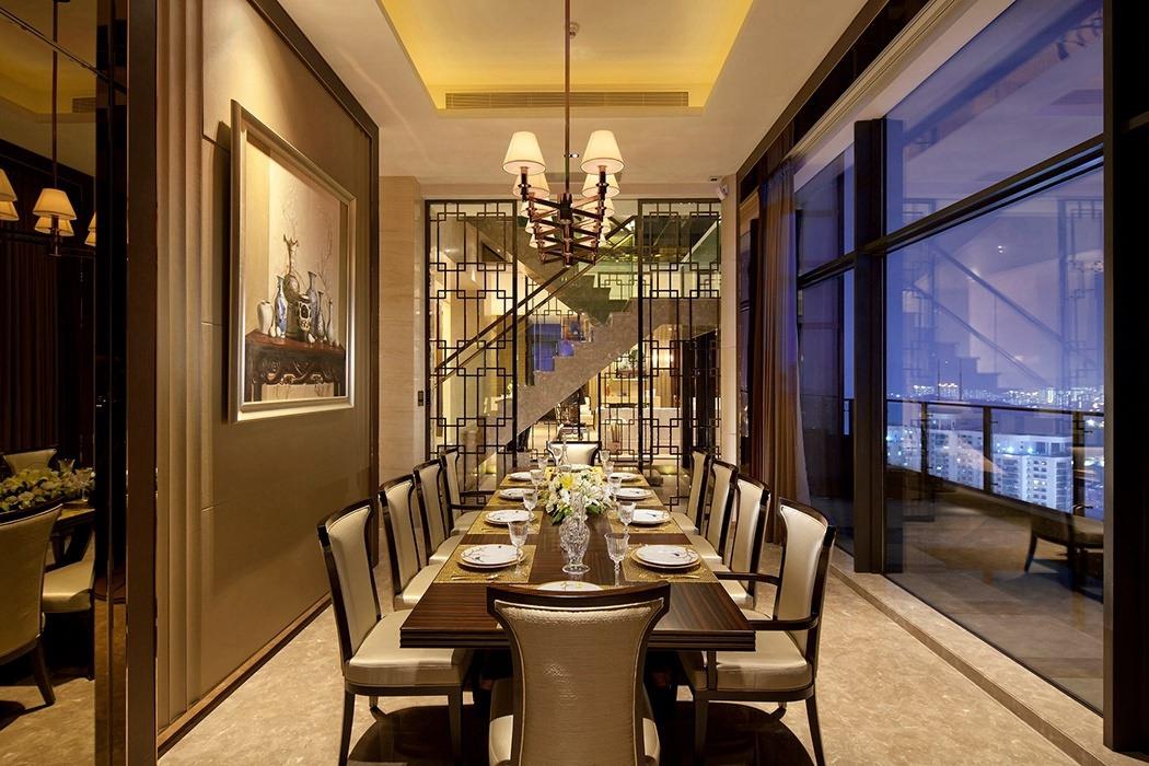 别墅餐厅灯饰/照明设计图