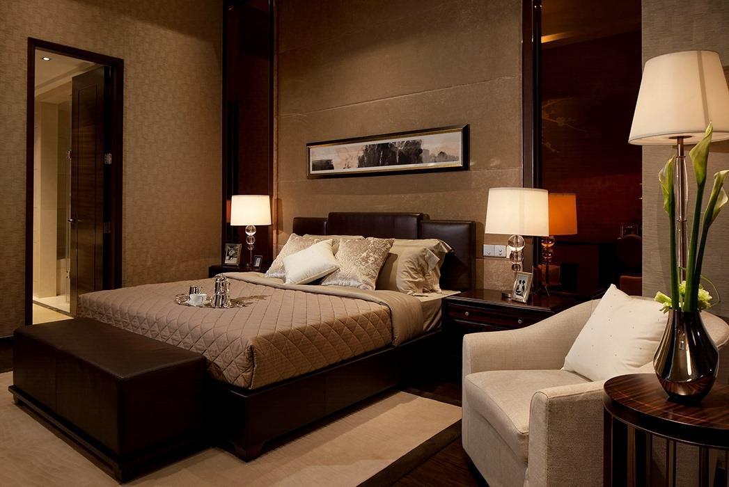 262平米卧室背景墙家装效果图