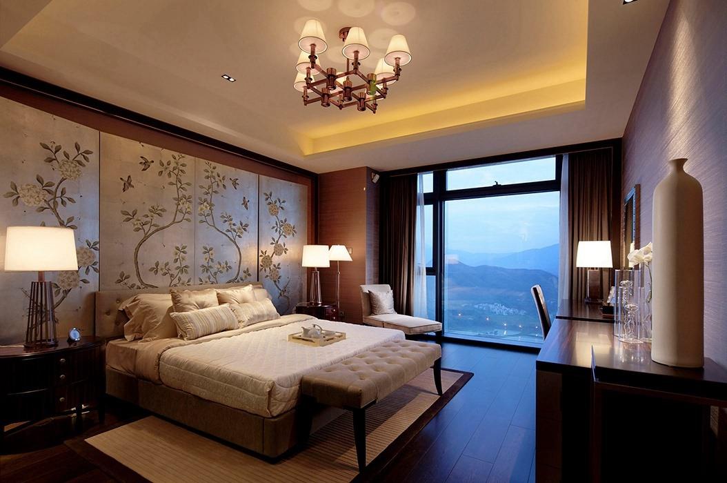 后现代风格卧室背景墙装潢设计图