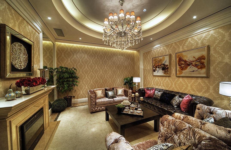 别墅客厅灯饰/照明室内设计