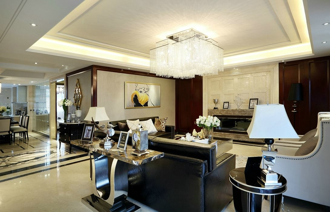 欧式风格客厅灯饰/照明设计