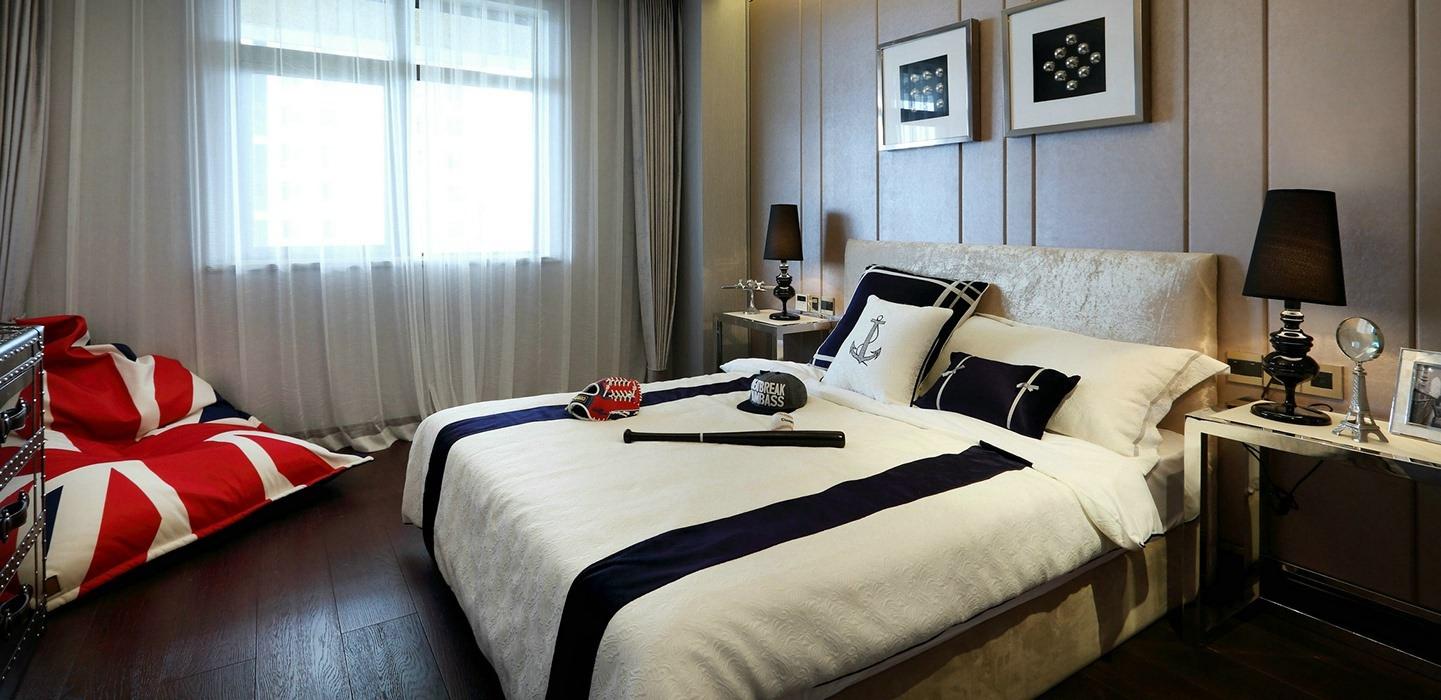 欧式风格卧室背景墙室内图