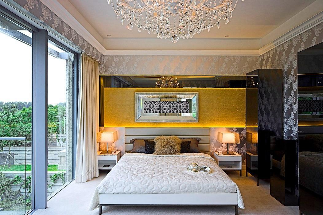 后现代风格卧室背景墙室内案例图