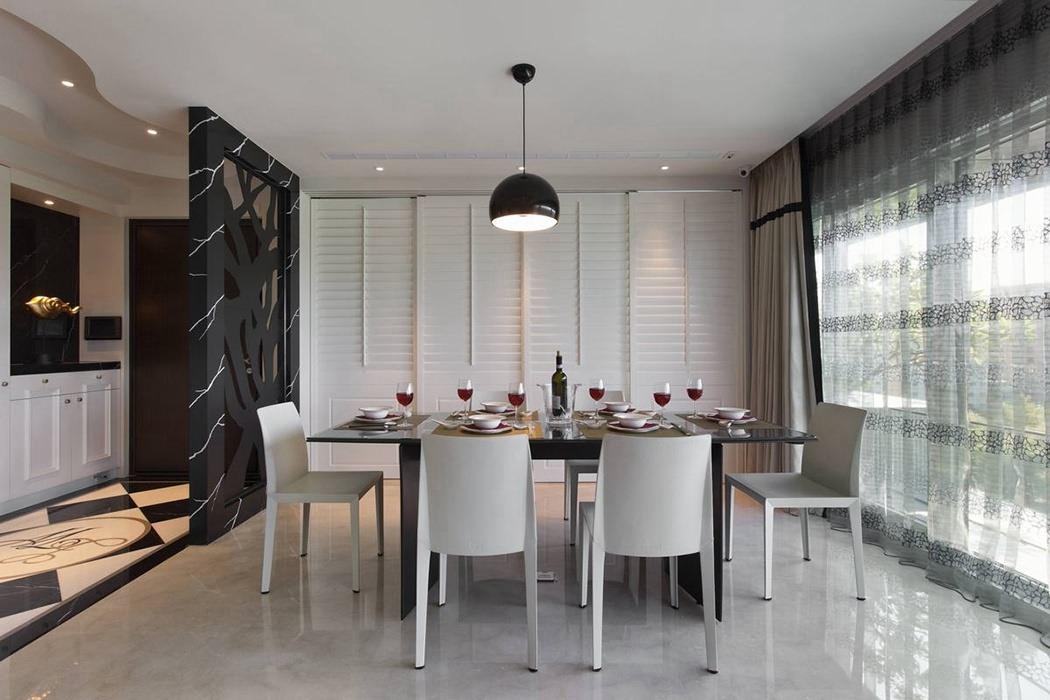 154平米餐厅灯饰/照明家装样板间