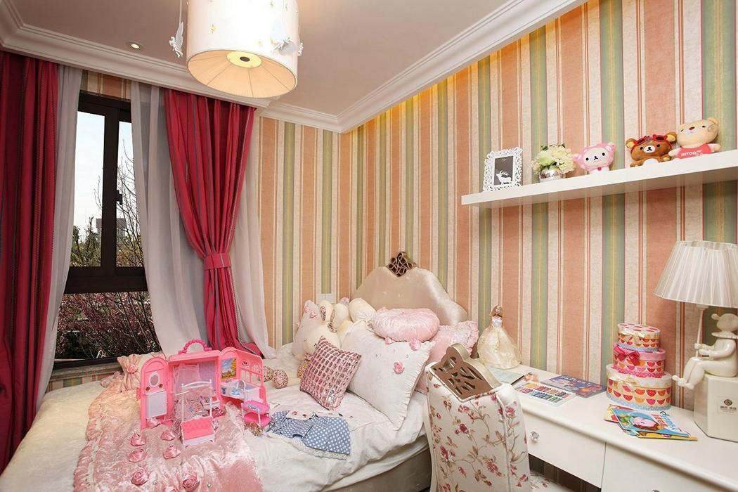 四居室儿童房背景墙设计图