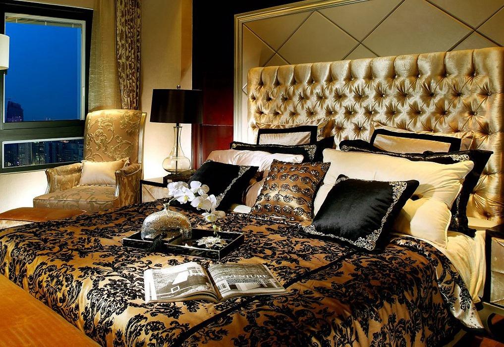 欧式风格卧室背景墙装修设计