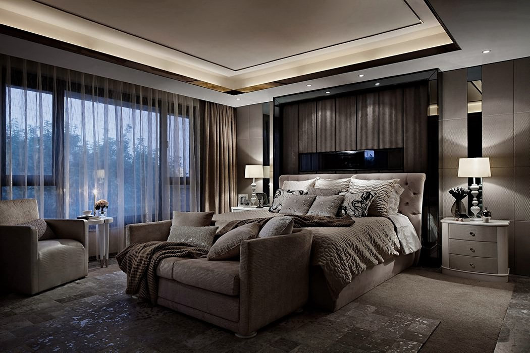 400平米卧室背景墙装修效果图