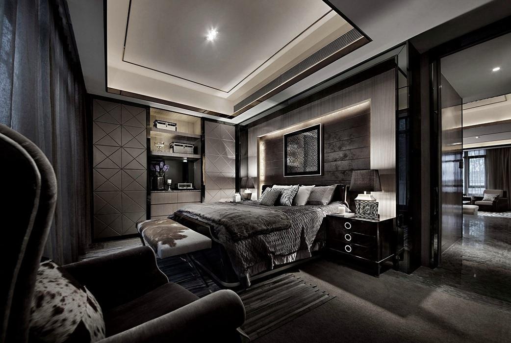 后现代风格卧室背景墙效果图