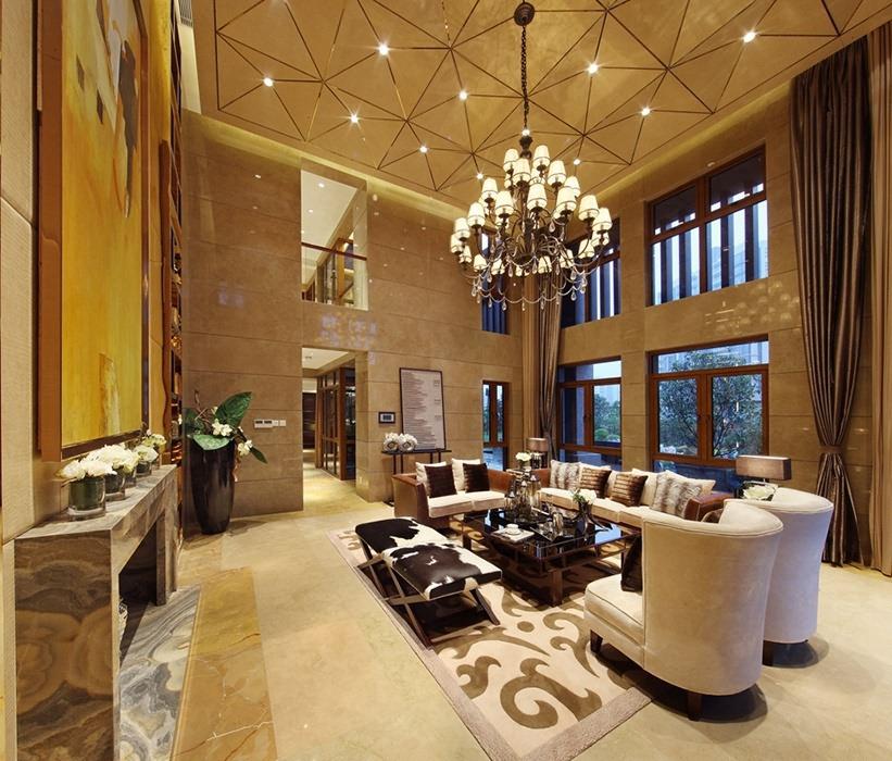 后现代风格客厅灯饰/照明设计